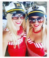 Getting into the nautical theme at Cancer Council Qld's Biggest Morning Tea