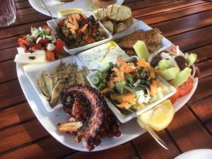Local Greek octopus as it should be eaten