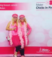 Committed to the cause in our pink!