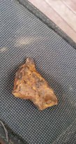 A piece of iron ore found with my metal detector