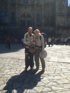 John and Tracy on the Camino trail
