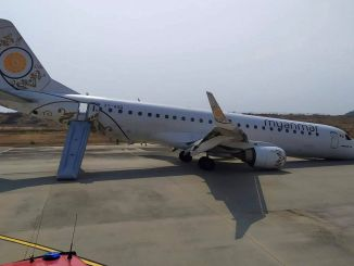 Myanmar National Airlines plane has made an emergency landing