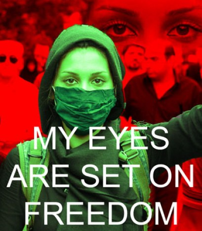 Image credit: My Eyes Are Set On Freedom #Iranelection from harrystaab