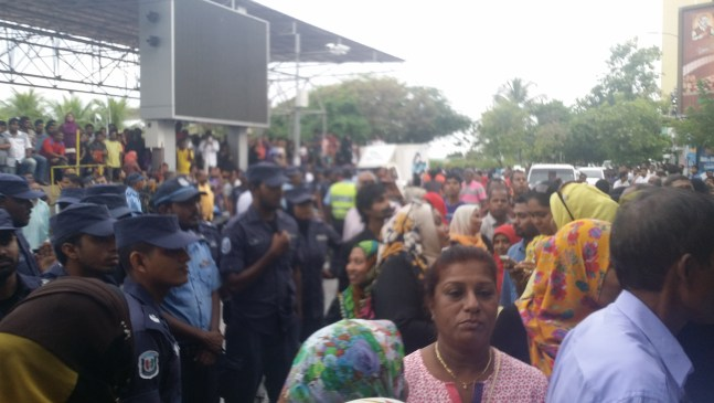 Image of mass rally against ruling party in the Maldives