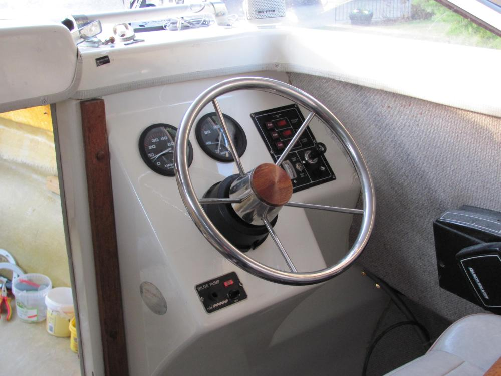 medium resolution of instruments and switch panels installed on the helm dashboard