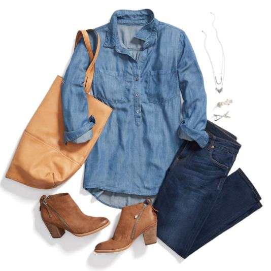 Stitch Fix Sample Outfit Jeans Ankle Boots