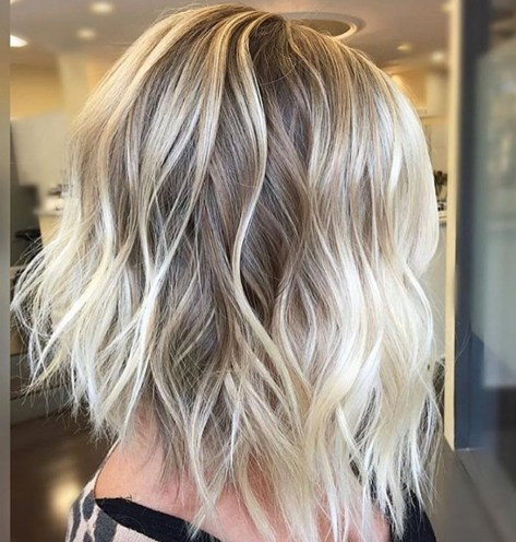 Short Blonde Balayage Hair Color Idea