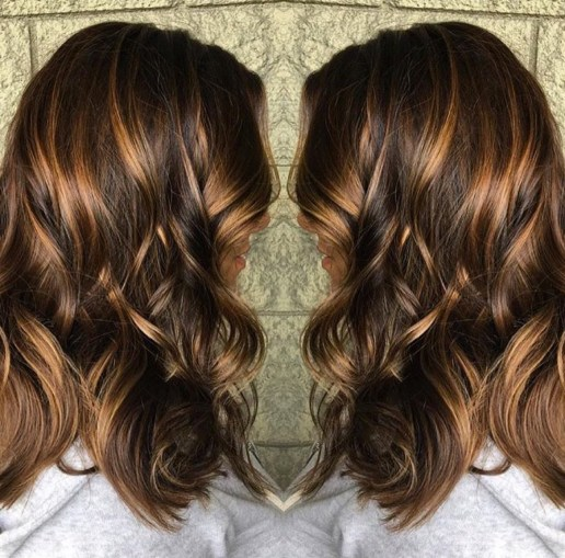 Carmello Balayage Hair Color Idea