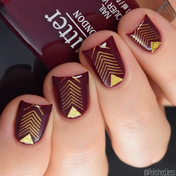 33 gel nail designs that you will want to copy immediately geometric gel nail designs prinsesfo Images