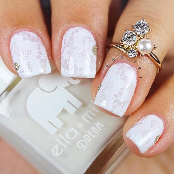 Gel Nail Designs and More: Lace Nail Stamping