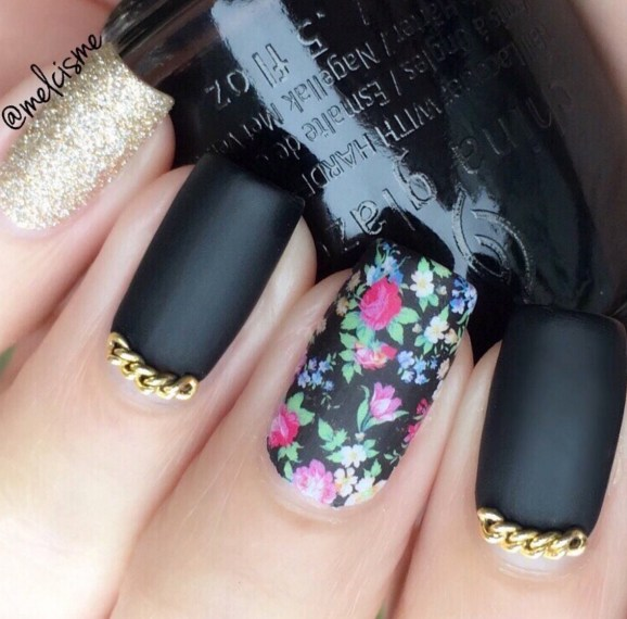 33 gel nail designs that you will want to copy immediately gel nail designs and more floral matte nail art prinsesfo Gallery