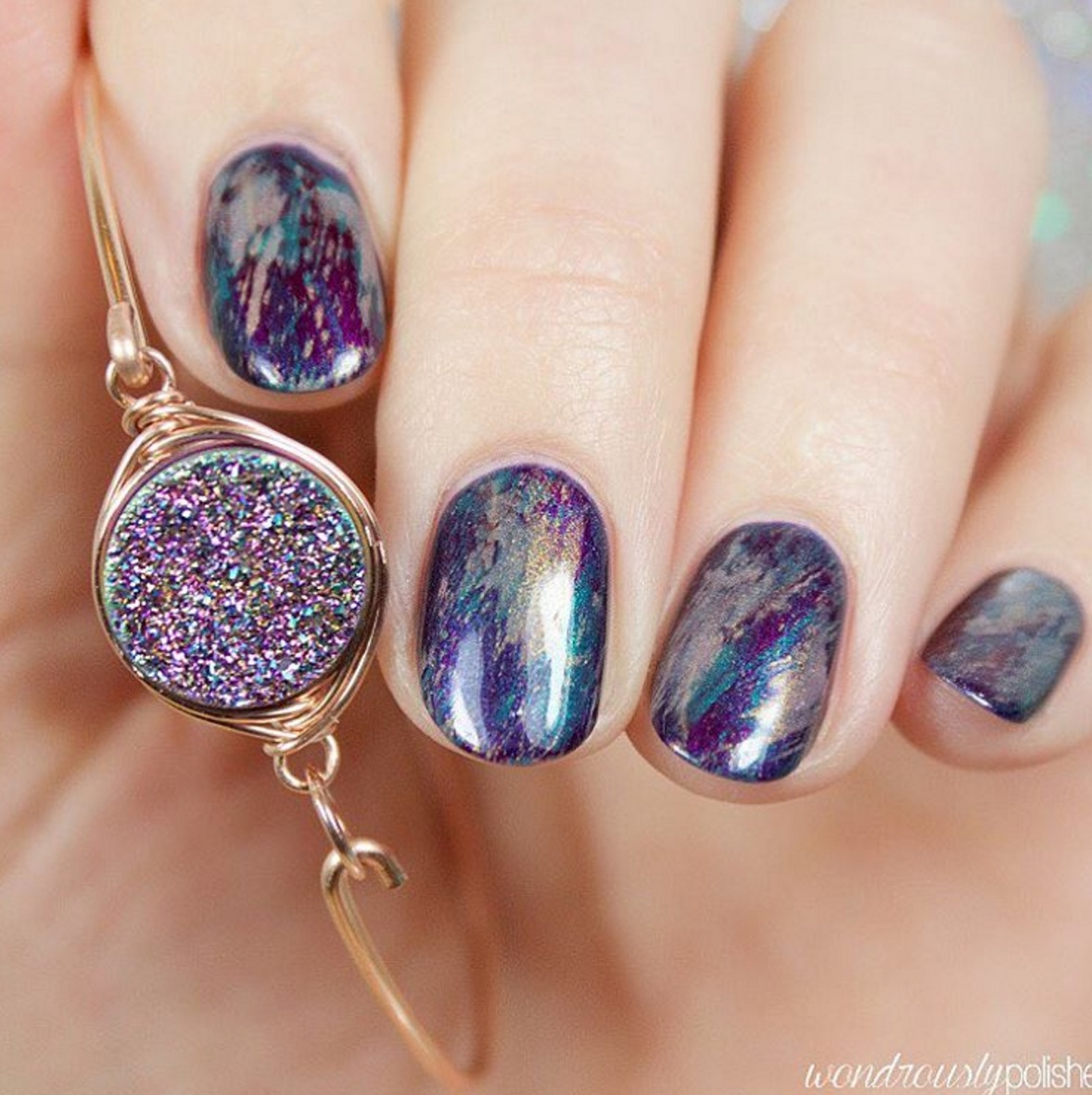 Purple Gel Nail Designs Zrom