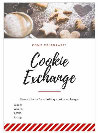 Free Printable Cookie Exchange Invitation