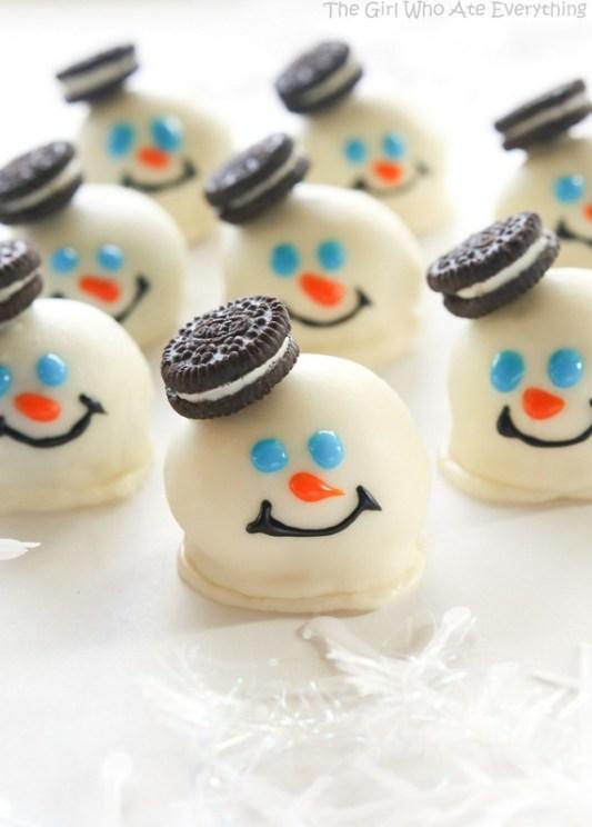 Easy Cookie Exchange Recipes: Melted Snowmen Oreo Balls