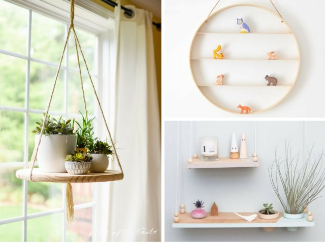 DIY hanging shelves that are cheap & easy to make