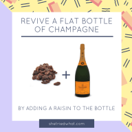 Kitchen Hack: Revive Flat Champagne Using a Raisin