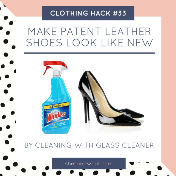 Clothing Hack: Clean Patent Leather Shoes with Windex to Look Brand New