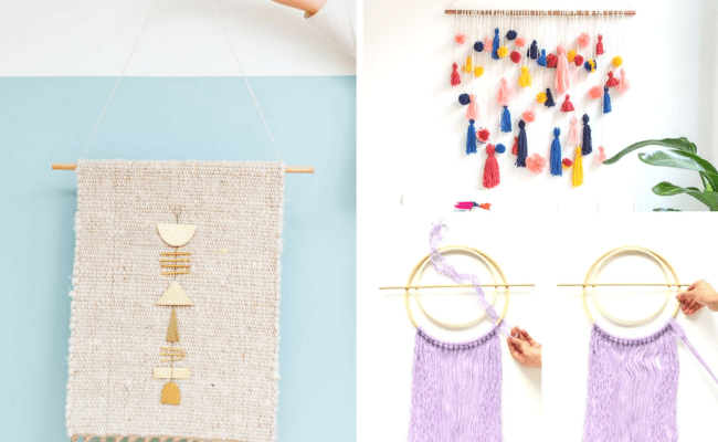 11 Easy Diy Wall Hanging Ideas For Your Boho Home She