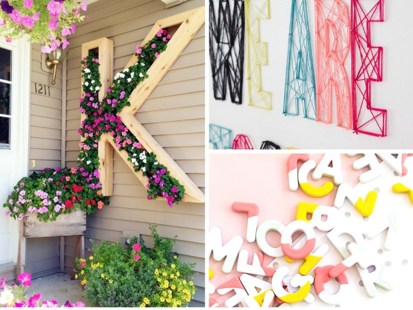 17 Letter Inspired DIY Projects You'll Regret Missing