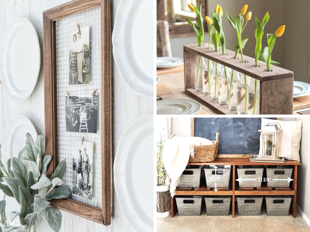 Nice 19 DIY Farmhouse Decor Ideas To Style Your Fixer Upper On A Budget