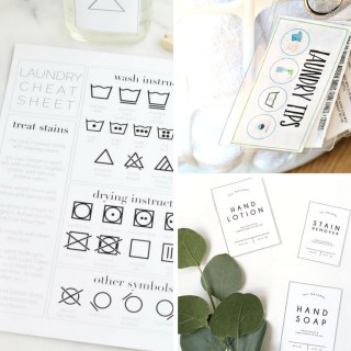 17 Free Printables to Organize Your Laundry Room