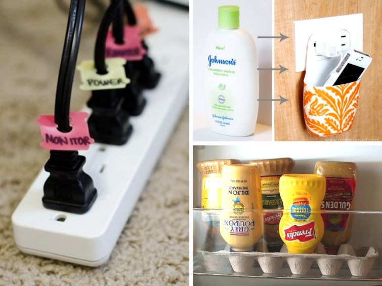 15 Organization Hacks Using Upcycled Everyday Objects