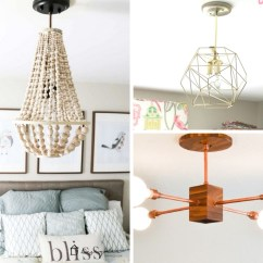 Hanging Light Fixtures Living Room Amazon 12 Diy Chandeliers And To Upgrade Your Space