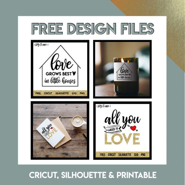 Free Design Files for Cricut, Silhouette and Printables