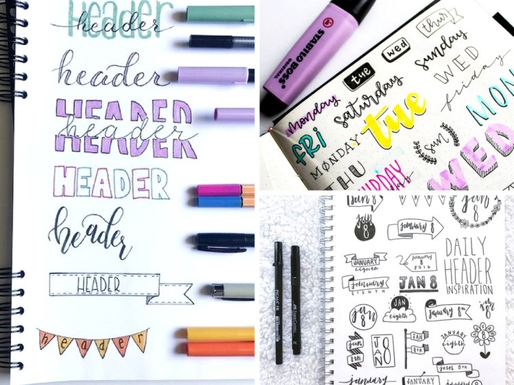16 Bullet Journal Header Ideas to Look Like a Pro
