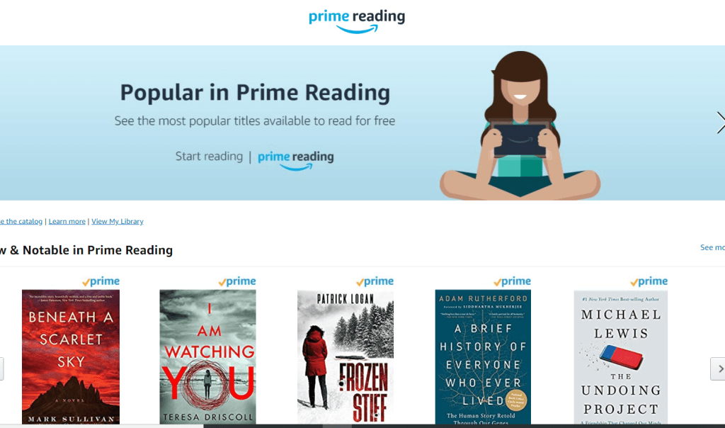 prime reading and kindle unlimited