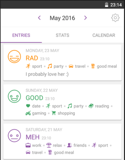daylio mood tracker