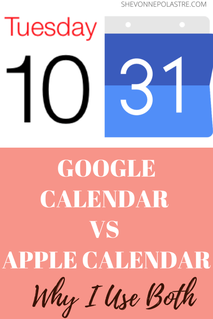 I use both Google Calendar and Apple Calendar and love both of them for different reasons