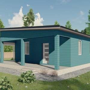 K032 — каркасный дом, проект Квебек
