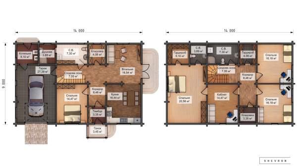 Проект деревянный дом, строительство дома из бруса, сруб. из дерева, деревянный дом цена план дома D061