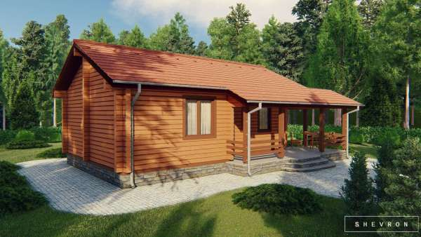 Строительство деревянного дома по проекту Донузлав D021