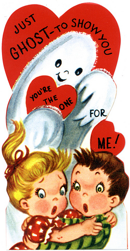 Vintage Valentines Ghosts Witches And Skeletons