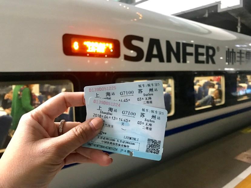 Train to Suzhou