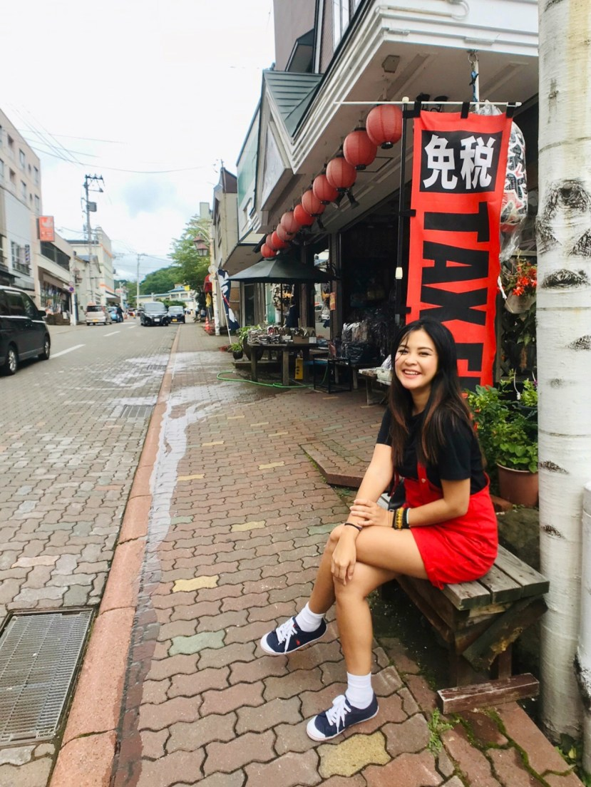 Noboribetsu's Hakuraku Shopping Street