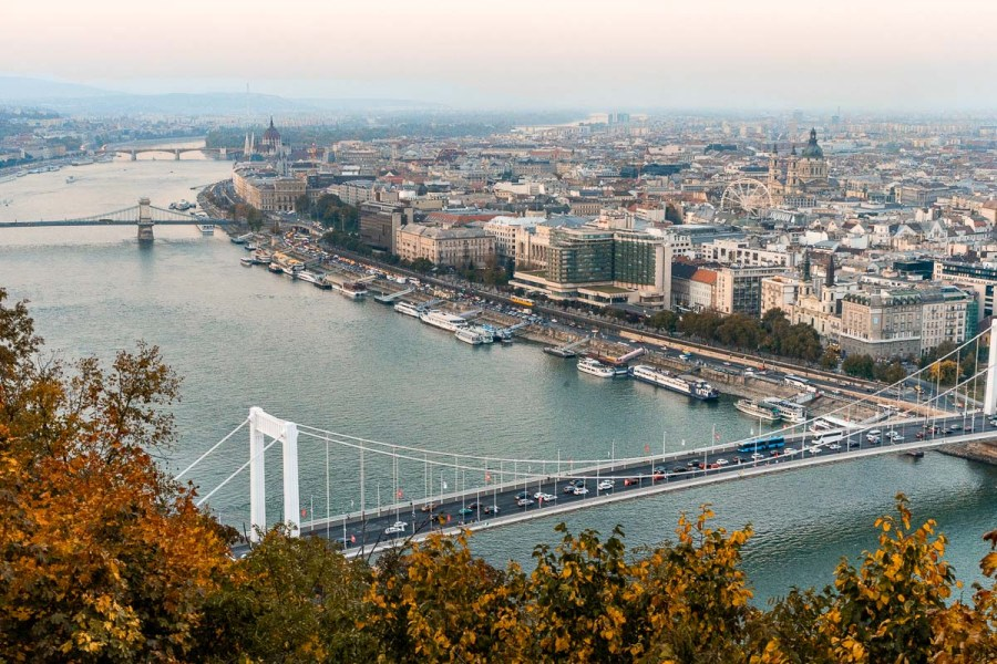 Panoramic view from the Citadel in Budapest