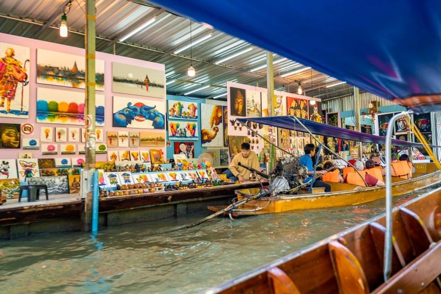 Goods at the Damnoen Saduak Floating Market in Bangkok