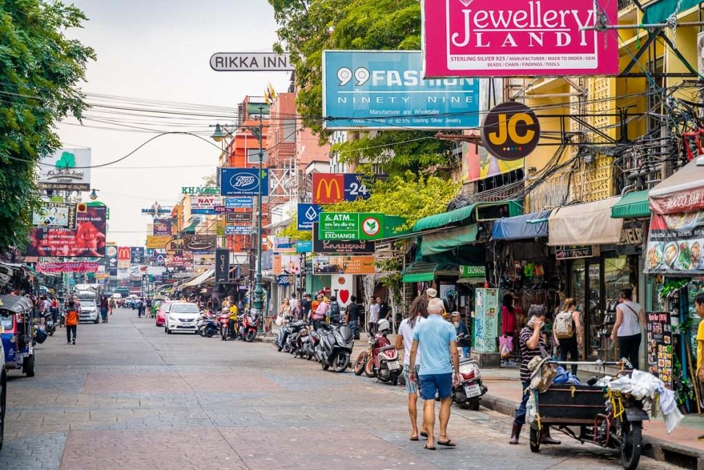The famous Khao San Road in Bangkok