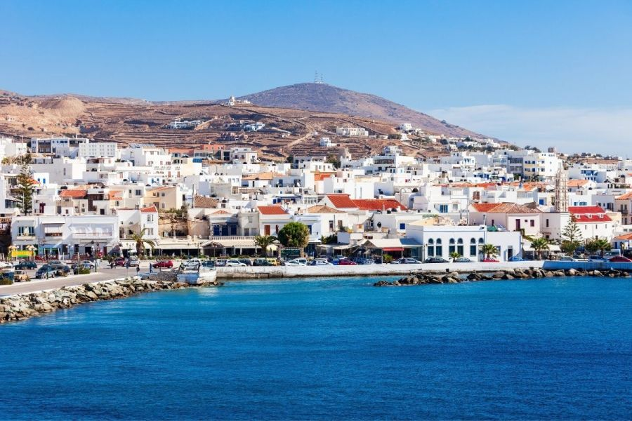 White-washed houses on the island of Tinos, Greece