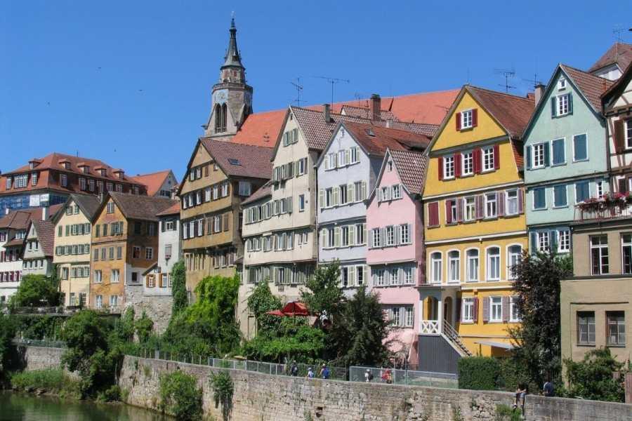 Colorful houses in Tübingen, Germany