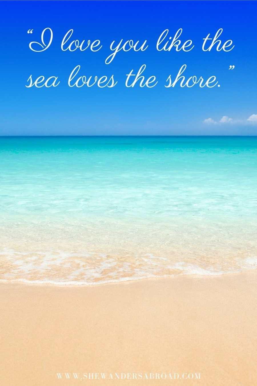 Romantic beach love quotes