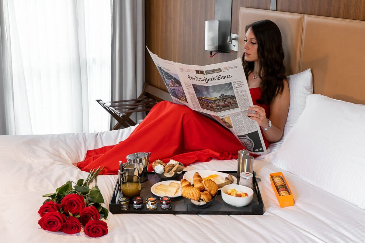 Breakfast in room in Hotel Paris Bastille Boutet