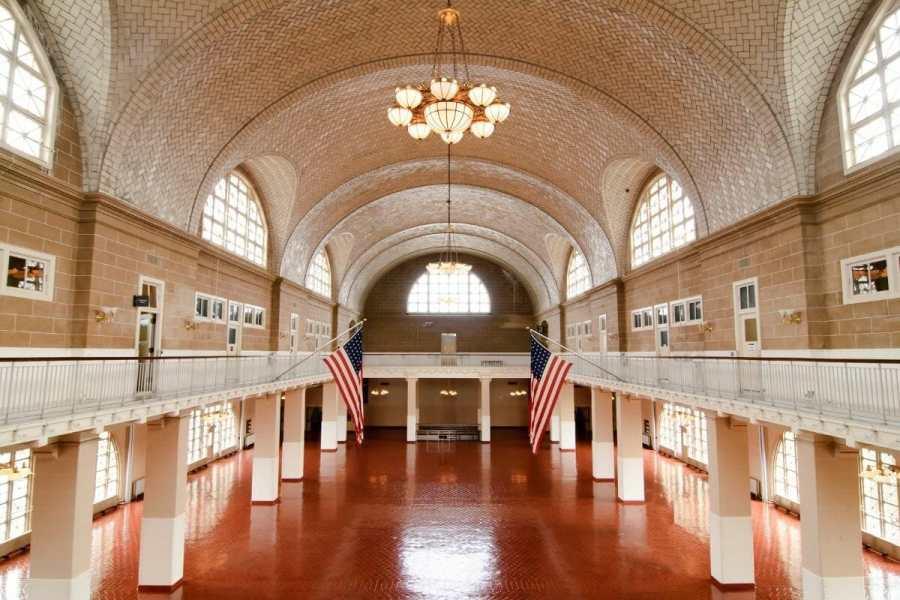 Grand Hall in the Ellis Island Museum