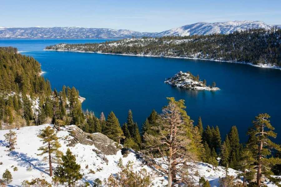 Lake Tahoe in winter, USA