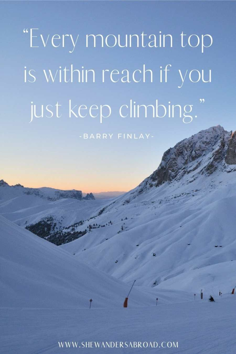 Motivational mountain captions for Instagram