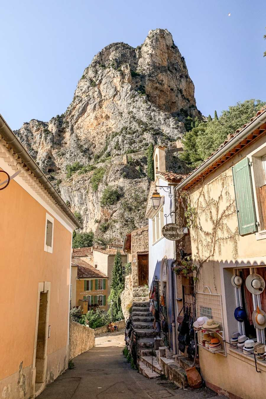 The charming town of Moustiers-Sainte-Marie in Provence