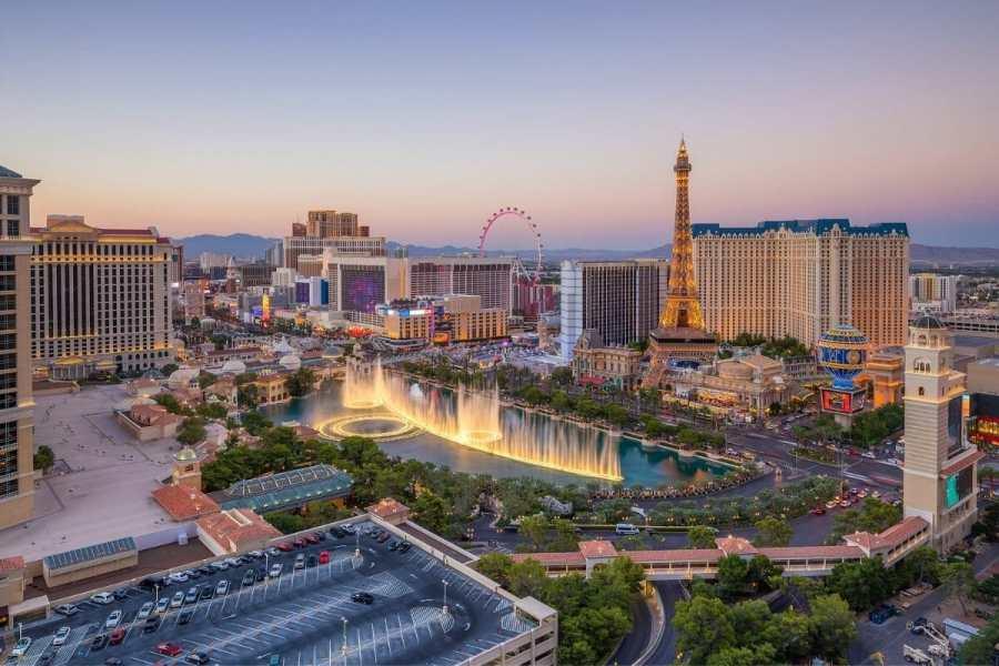 Panoramic view of Las Vegas, USA